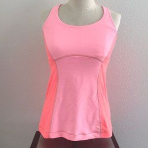 Lululemon Run Pace Tank Top Coral Pink Size 6